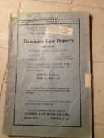 antique 1926 Dominion law reports