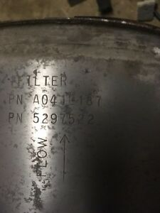 2 diesel particulate filters, one DOC