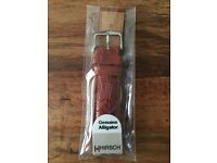 Brand new Hirsch alligator watch strap, 22mm - happy to post