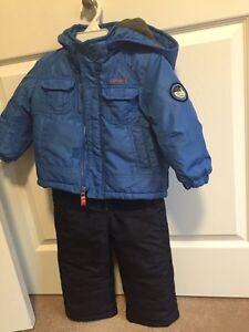 2 T snow suit, sweaters and winter clothing lot