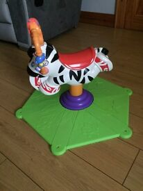 Fisher Price Bounce 'N' Spin Zebra - AS NEW