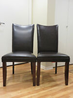 Brand new leather dining room chairs for sale