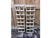 2 x Garden Trellis. Treated timber. Unused condition.