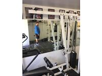 Commercial gym equipment Lat pull/seated row machine