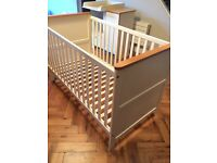 John Lewis nouveau cot bed and baby change unit