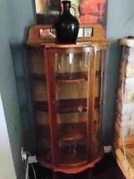 Vintage Curved glass curio
