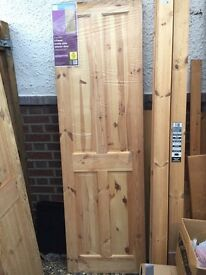 4 panel pine internal doors. Like New. Still wrapped