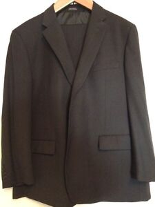 Men's two piece charcoal grey suit
