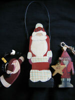 SANTA ON A WIRE TREE ORNAMENTS