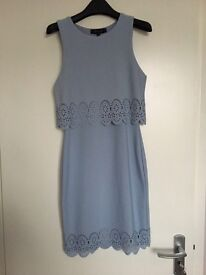 Blue laser cut dress size 10