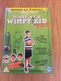Diary of a wimpy kid 1 ,2,3 box set DVD