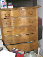 Antique tall man dresser (curvy)