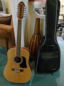 Aria Acoustic Guitar with case
