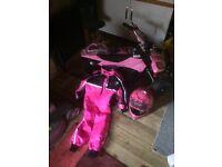 50cc Quad Bike, Helmet, Suit and Gloves