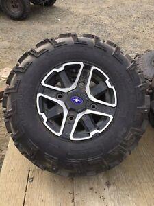 Quad Tires on Rims