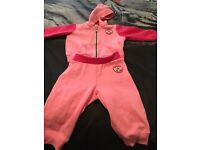 Baby girls converse tracksuit age 12 months worn once