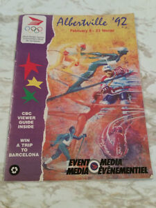Albertville 1992 Winter Olympics media event booklet