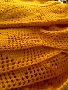Hand crochet twin size blanket Kitchener / Waterloo Kitchener Area image 1