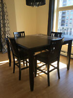 Ashley Solid Wood Dining Table & Chairs