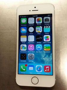 Telus / Koodo iPhone 5S 16gb Silver, Excellent Condition