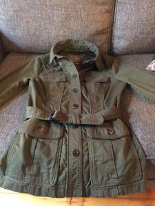 Jacob Fall Military Style Coat size medium