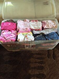 Big bin of girl's clothes