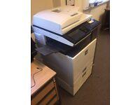 Sharp mx 5000 network laser printer, copier, scanner with duplex multi feeder