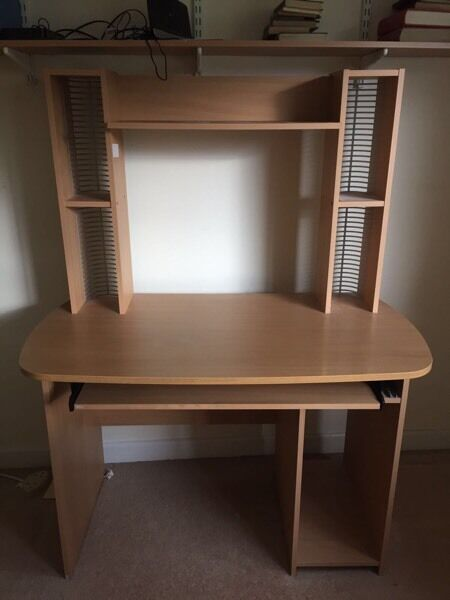 Desk for salein South Croydon, LondonGumtree - Desk for sale, excellent condition, with storage space on either side above desk and pull out keyboard