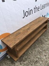 Large Rustic Solid Pine TV Unit