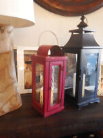 WOODEN ANTIQUE LANTERN - RED IN COLOR!!!! GORGEOUS