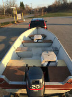 20 hp Yamaha, Galvanized Trailer and 14 foot Crestliner