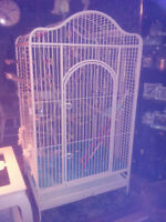 Gros Cage Perroquet/ Large Solid White and Beautiful Parrot Cage