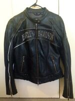 Harley Davidson reflective skull leather jacket for women XS!!!
