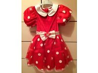 Disney Store Minnie Mouse Dress, 6-8 years. Fancy Dress Costume