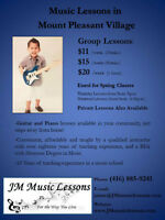 PIANO AND GUITAR LESSONS $11 PROMOTION TWO FREE CLASSES