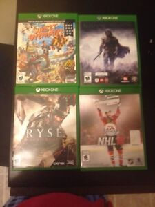 Xbox one games in excellent condition