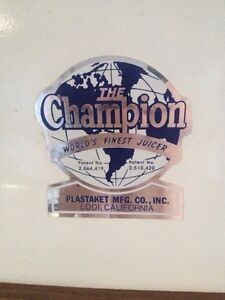 Champion Masticating Juicer Sarnia Sarnia Area image 3