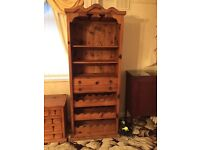 Rustic Free Standing Wine Rack and Shelving Unit