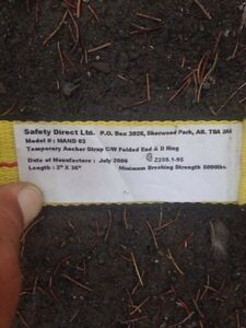 Safety straps for roofing and construction  Peterborough Peterborough Area image 2