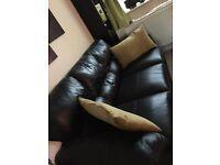 scs leather sofa
