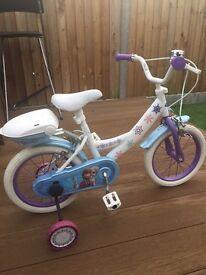 """Girls frozen bike 14"""""""