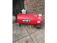 Jetaire 110v blown air heater propane gas factory workshop