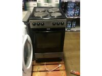 Silver freestanding cooker oven hob