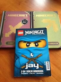 2 x Minecraft & 1 x Ninjago books