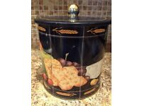 Vintage air tight biscuit tin