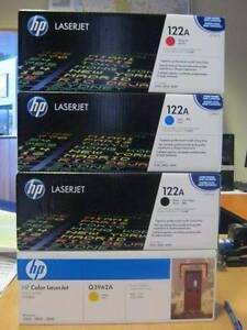 HP 122A LaserJet Toner Cartridge x 4 - SELL AS-IS - NEW Malaga Swan Area Preview