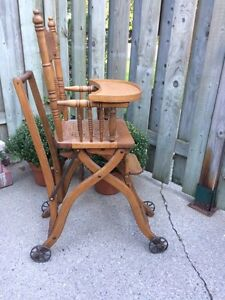 Antique wooden high chair  London Ontario image 4