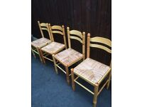 Solid pine kitchen chairs