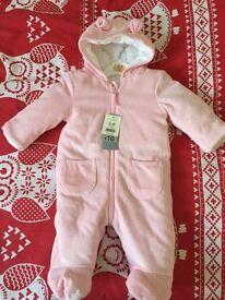 pink 3-6 months snowsuit