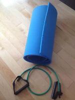 Tapis de sol et élastique Cardio Poussette/Cardio traineau